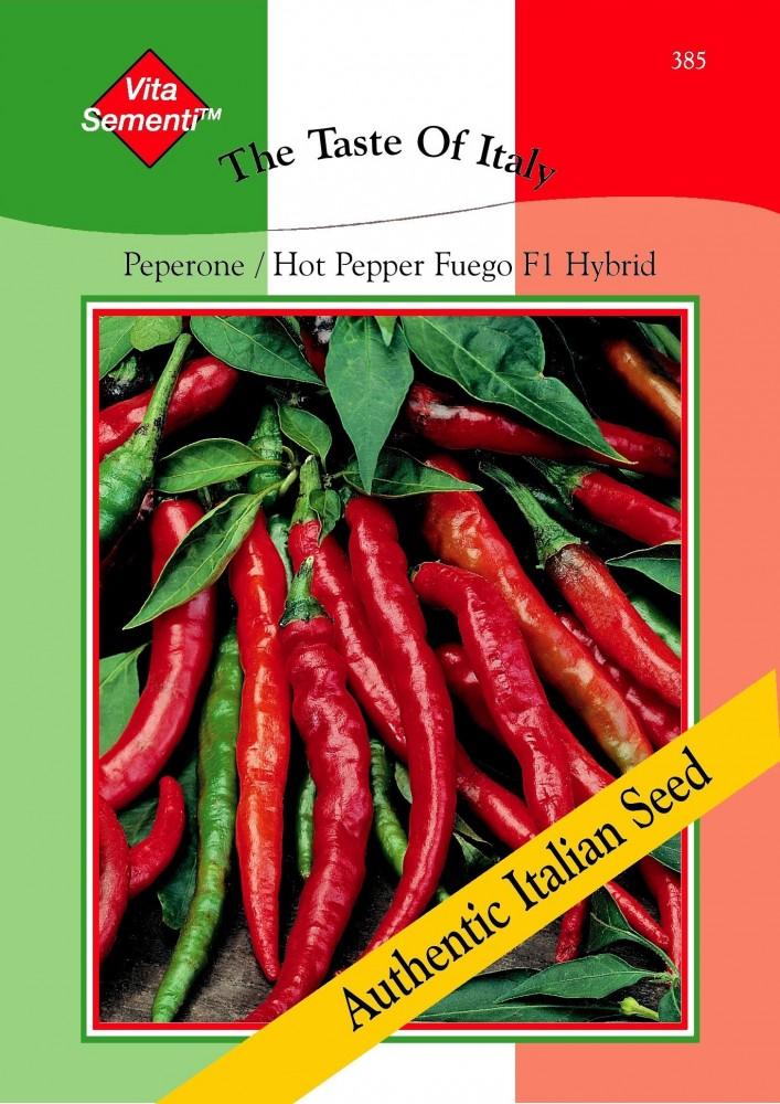 paprikasamen paprika peperone hot pepper fuego f1 von thompson morgan. Black Bedroom Furniture Sets. Home Design Ideas